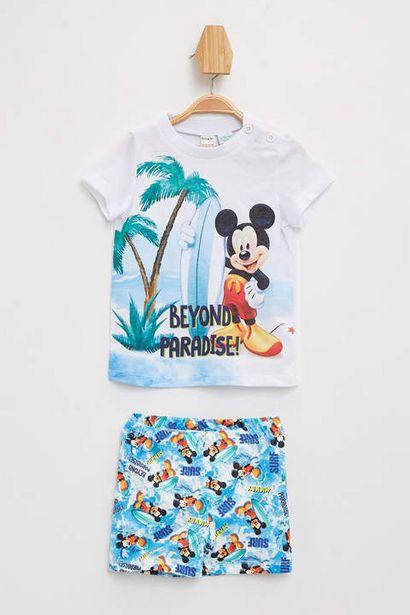 39,99 TL fiyatına Erkek Bebek Mickey Mouse Lisanslı Atlet Ve Yüzme Şort Takımı