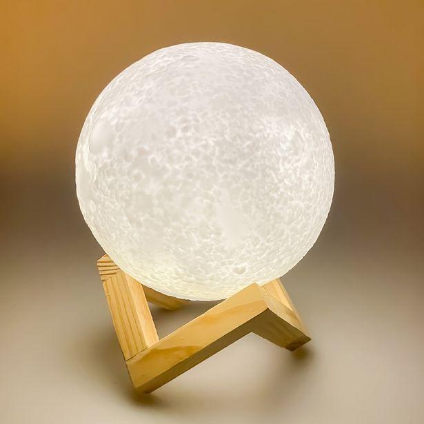 35,75 TL fiyatına Petrix Ahşap Standlı 3D Led Ay Lambası