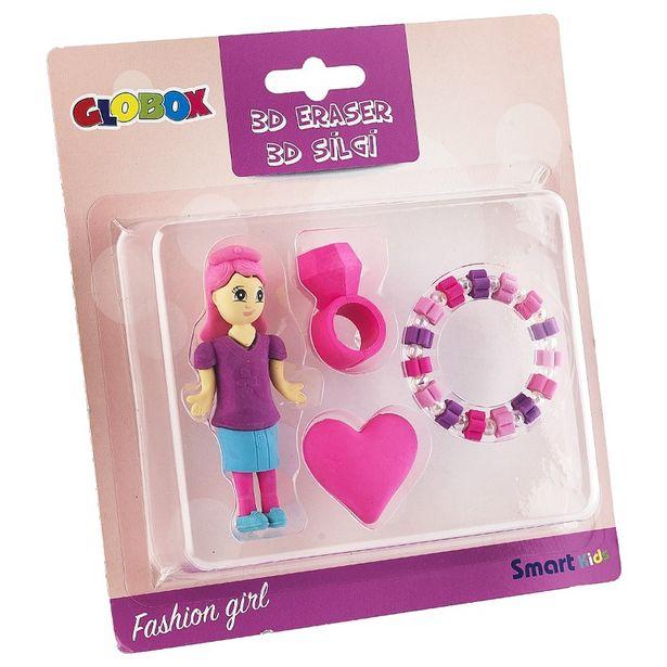 15 TL fiyatına Globox Fashion Girl Silgi Seti