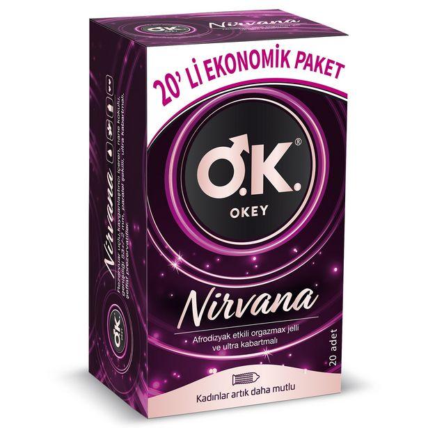 68,5 TL fiyatına Okey Nirvana Prezervatif 20'li