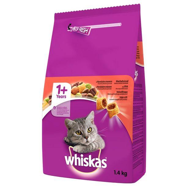35,25 TL fiyatına Whiskas Biftekli Kedi Kuru Mama 1.4 kg