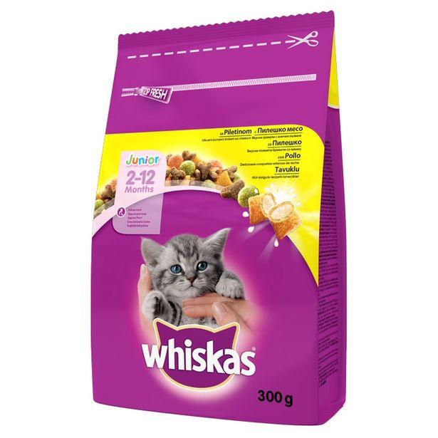 8,25 TL fiyatına Whiskas Junior (Yavru) Kedi Kuru Mama 300 gr