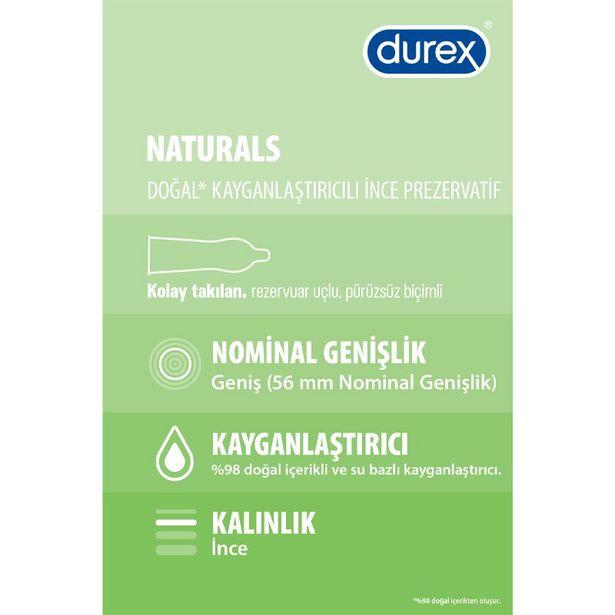 46 TL fiyatına Durex Naturals Prezervatif 20'li
