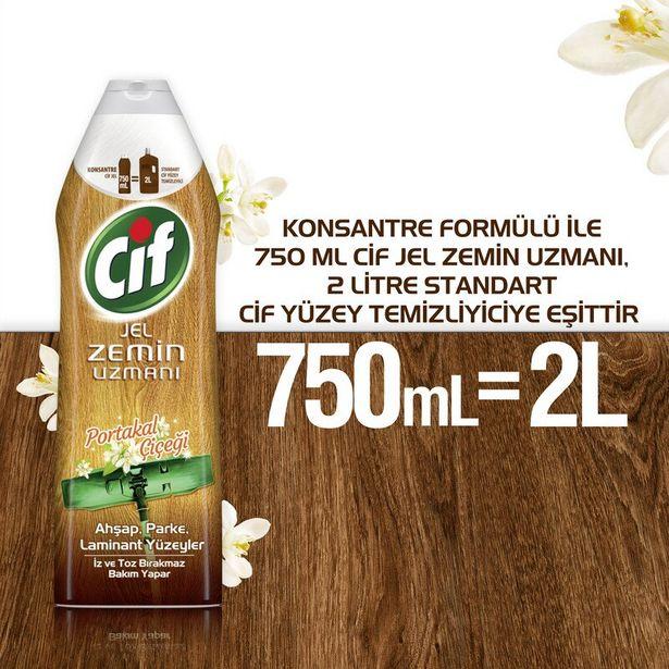 15,75 TL fiyatına Cif Jel Zemin Uzmanı Yüzey Temizleyici Portakal Çiçeği Ahşap Parke Laminant Yüzeyler 750 ml