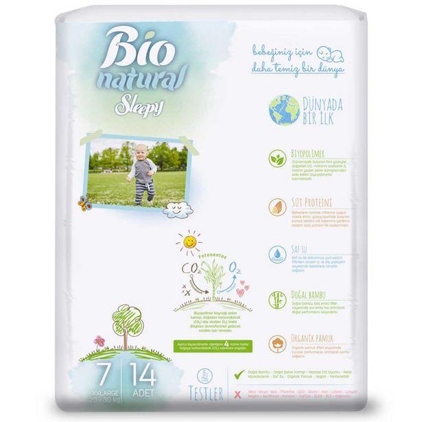 37,5 TL fiyatına Sleepy Bio Natural Xxl 14'lü 1 Adet