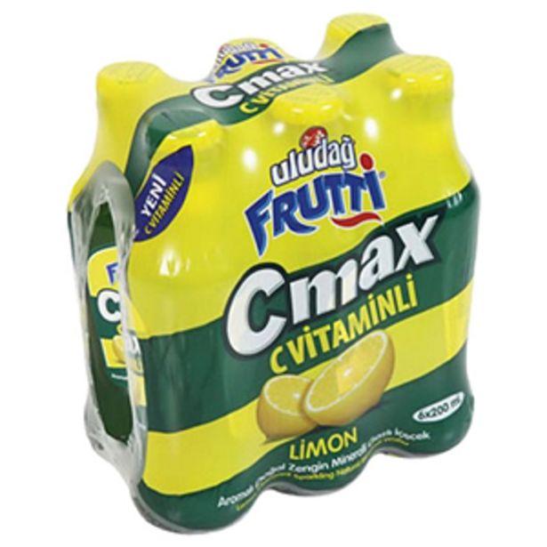 9,25 TL fiyatına Uludağ Maden Suyu Frutti C - Max 6x200 ml