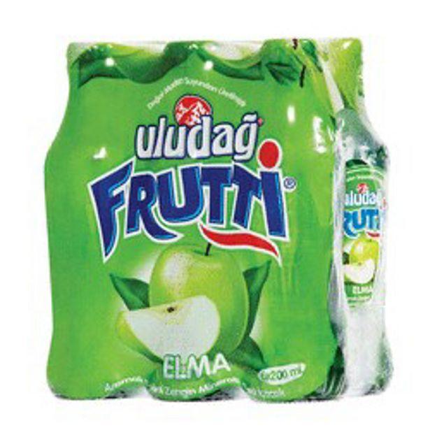 9,25 TL fiyatına Uludağ Frutti Maden Suyu Elma Aromalı 6x200 ml