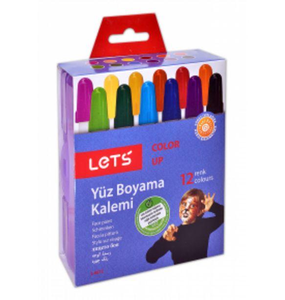 79,99 TL fiyatına Lets 12 Renk Çevirmeli Yüz Boya Kalemi