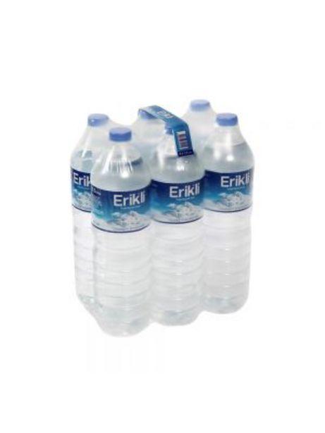 9,9 TL fiyatına Erikli Su 1,5 lt 6'lı Paket