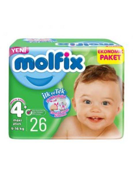 32,95 TL fiyatına Molfix 4+ No Jumbo Maxi Plus Bebek Bezi 3D 26'lı