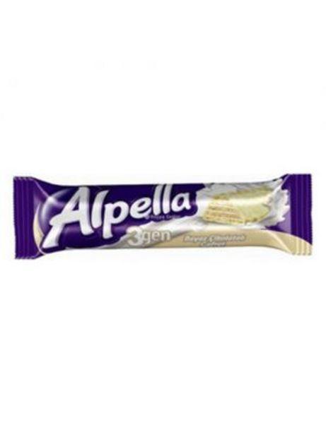1,25 TL fiyatına Alpella 3Gen Beyaz Çikolatalı Gofret 28 g