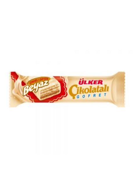 1,25 TL fiyatına Ülker Beyaz Çikolatalı Fındıklı Kremalı Gofret 35 g