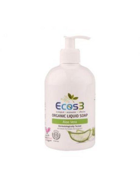 29,95 TL fiyatına Ecos3 Organik Sıvı Sabun Aloe Vera 500 ml
