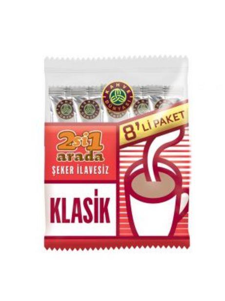 7,95 TL fiyatına Kahve Dünyası 2'si 1 Arada Klasik Hazır Kahve