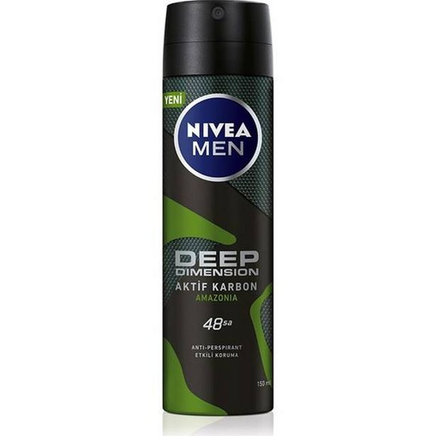 21,95 TL fiyatına Nivea Men Deep Amazonia Deodorant 150 ML