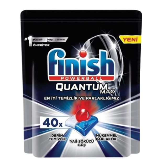 49,9 TL fiyatına Finish Quantum Max Tablet 40 Lı