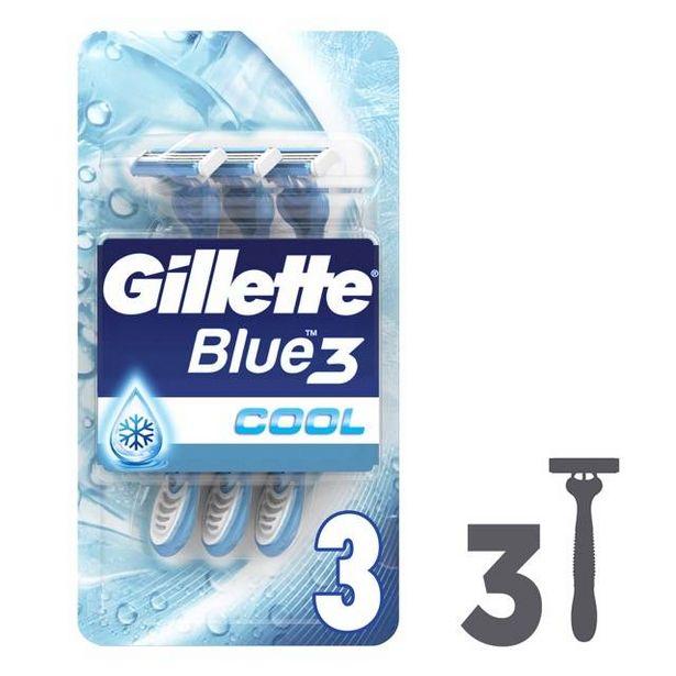 27,93 TL fiyatına Gillette Blue III Cool 3 Lü Poşet Tıraş Bıçağı