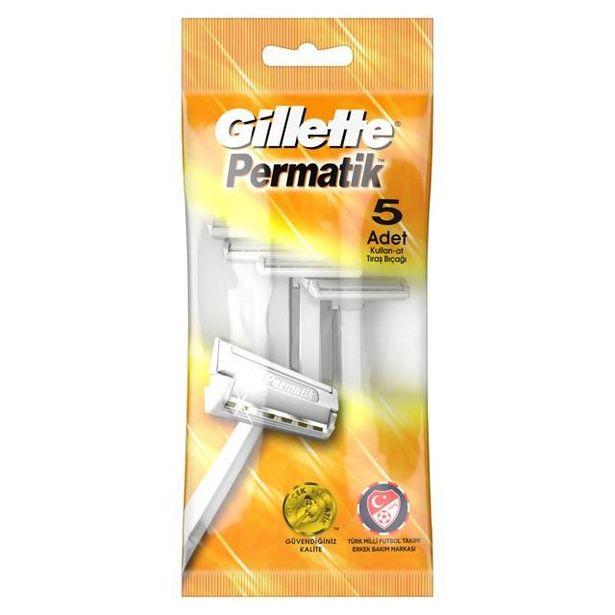 11,13 TL fiyatına Gillette Permatik 5'Li Normal