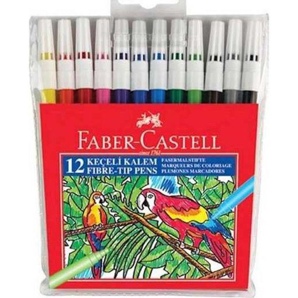 24,95 TL fiyatına Faber Castell Keçeli Kalem 12 Renk