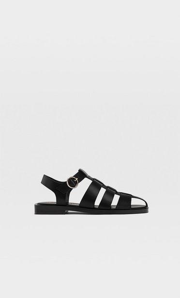 299,95 TL fiyatına Siyah düz bantlı sandalet